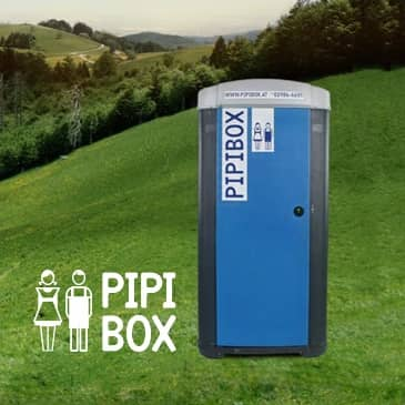 Mobile WC-Kabine Pipibox